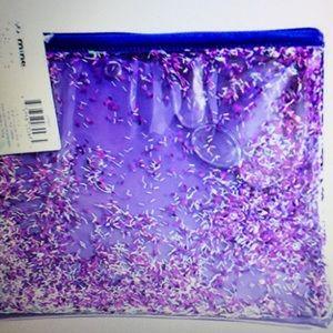 Handbags - Floating Glitter Pouch- purple
